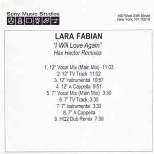 Lara Fabian - I Will Love Again (Hex Hector Remixes)